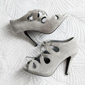 Aldo grey suede shoes